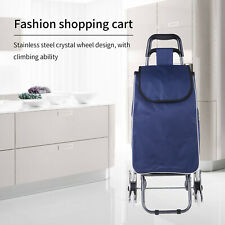Home Shopping Trolley Cart Foldable Shopping Bag Cart Portable Grocery Crystal