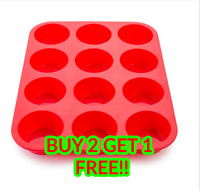 12 Cup Cake Muffin Bun Fairy Cakes Yorkshire Pudding Tray Non Stick Pan Mould