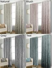 Bliss Crushed Velvet Blackout Curtains Fully Lined Thermal Curtain Pair