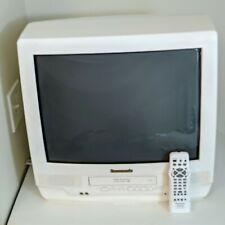 Panasonic PV-C2032W 20 Inch TV w/ VCR Gaming Remote Control FM Radio Tested USA