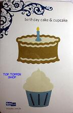 """Quickutz 4""""x4""""  Birthday Cake & cupcake"""