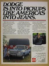 1977 Dodge Pickup blue truck photo vintage print Ad
