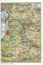Bregenzer Wald 1928 kl. Karte + Reisef. (14 S.) Dornbirn Bezau Schwarzenberg