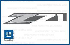 set of 2: 2014 GMC Sierra Z71 Decals bed stickers - FMT metallic strip chrome