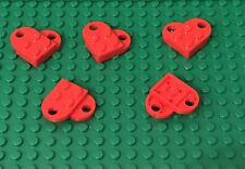 Lego X5 New Red Heart / Mini Figures Valentine's Day Love Gift Parts Lot