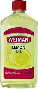 Weiman Lemon Oil ~ Furniture Polish with UVX-15 Sunscreen ~ 16 Oz