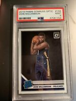 2019-20 Donruss Optic #158 Zion Williamson Pelicans RC Rookie PSA 9 MINT