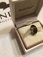 Authentic Pandora Cinnamon Ladybug Murano Glass Sterling Silve Charm. RETIRED