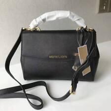 Authentic Michael Kors Ava Small Top Handle Satchel Handbag Black