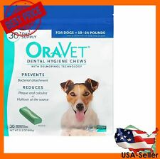 OraVet Dental Hygiene Chews for Dogs Size 10-24 lbs 30 count