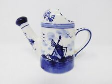 Handpainted Delft Blue Porcelain Watering Can