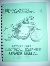 LUCAS Motorcycle Service Manual Triumph Norton BSA Matchelss Velocette 1960s 70s