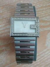 Gucci YA100 (100 series) G-Rectangle Ladies 54 diamond mother of pearl watch