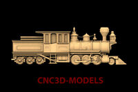 3D Model CNC Router STL File Artcam Aspire Vcarve old train locomotive PK26