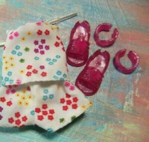 Mattel Kelly Doll Clothes *White Flowered Halter Style Short Set You Pick Shoes*