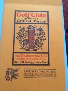 GOLF.Publicité Américaine Pour Golf Clubs, Fin XIXEME.