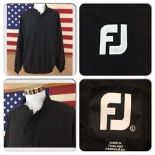 EXC COND FOOTJOY MENS LARGE 1/4 SNAP LIGHTWEIGHT BLACK GOLF PULLOVER JACKET