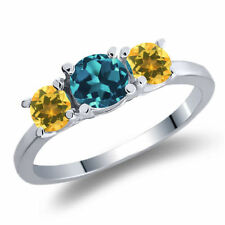 Topaz Heating Sterling Silver Fine Rings