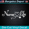 Vinyl Decal.. NURSE LIFE.. Nursing RN LPN Medical Hospital Car Laptop Sticker