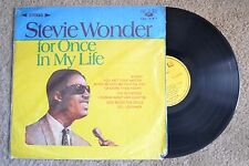 Stevie Wonder For Once In My Life Soul Taiwan Import Record lp VG+