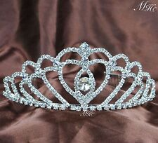 Wedding Tiaras Clear Rhinestones Crystal Crowns Brides Prom Party w/ Hair Combs