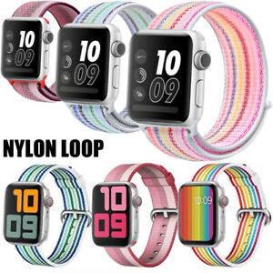 40mm/44mm For Apple Watch Sport Nylon Loop Band Compatible iWatch 6 SE 5 4 3 2 1