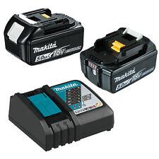 Genuine Makita 18V Li-Ion 5AMP Battery Rapid Charger 5Ah Combo Kit 2 Batteries