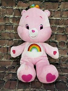 (GG-7802) Cheer Bear Care Bear Pink Rainbow Plush Toy 18 inch Soft
