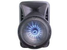 """QFX BF-2015 15"""" Rechargeable Party Speaker +Bluetooth +USB/SD/FM/LED +Free Mic"""