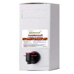 (8,32 EUR/l) 100%iger Sanddornsaft 3 Liter Bag in Box Sanddorn Saft