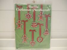Bucilla Christmas Ornaments Gingerbread Cookies Needlecraft Jeweled Holiday 2824