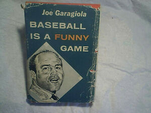 1960 JOE GARAGIOLA BASEBALL IS A FUNNY GAME SIGNED AUTOGRAPH HARDCOVER,st.louis