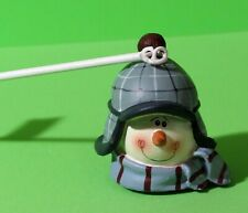 Winter Snowman Candle Snuffer with Snowball Handle