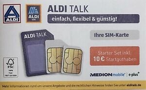 Simkarte Aldi Talk Starter Paket Set inkl. 10 Euro Startguthaben MEDIONmobile