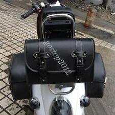 Motorcycle Fork Bag Handlebar Sissy Bar Side Seat Tool Pouch Roll Barrel Storage