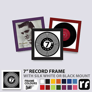 """7"""" Inch Record Frame Wood Black White Colours Collectors single PICTURE FRAMES"""