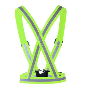 Safe Reflective Belt Vest Straps for Running Walking Cycling Elastic Protect New