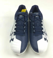 Under Armour Yard Low St Baseball Cleat Men's Shoe Size 9.0 Navy White 3000353