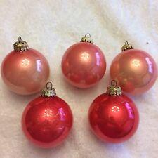 Vintage Mixed Pink Glass ball Christmas ornaments -Christmas By Krebs