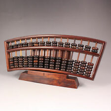 chinese red wood Hand-carved Antiquity Calculation Tools abacus An abacus d02