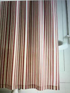 pottery barn antique stripe shower curtain #1346