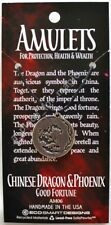NEW Dragon and Phoenix Double Sided Amulet Pewter Pendant