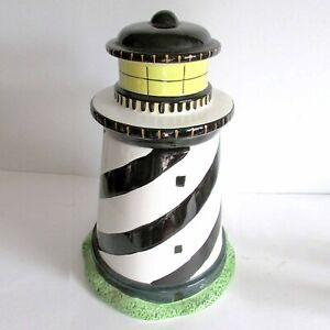 "1998 Sakura Coastal Breeze Lighthouse Cookie Jar Ret. Warren Kimble 12"" FREE SH"