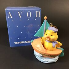 Vintage AVON EASTER Eggspression Sailboat ORNAMENT~NEW IN BOX Anchors Eggway!