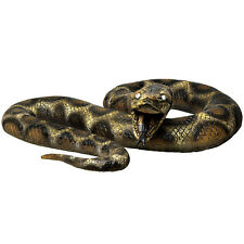 "Giant 87"" Lifelike Foam Filled Latex Rubber Anaconda Snake Movie or Theatre Prop"