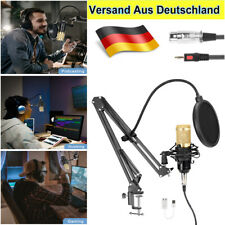 96kHz/24Bit Kondensator microphone Mikrofon Kit Komplett Set für Studio Aufnahme