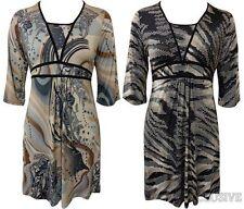 3/4 Sleeve Paisley Dresses Plus Size for Women