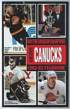 1992-93 Vancouver Canucks NHL Hockey Media Guide Pavel Bure