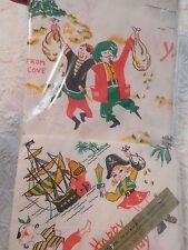 Vintage Pirate Theme Birthday Paper Linen Tablecloth & Napkins 60 X 102