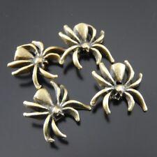 60pcs Retro Bronze Alloy Spider Look Beads Bracelet DIY Accessory Charms Pendant